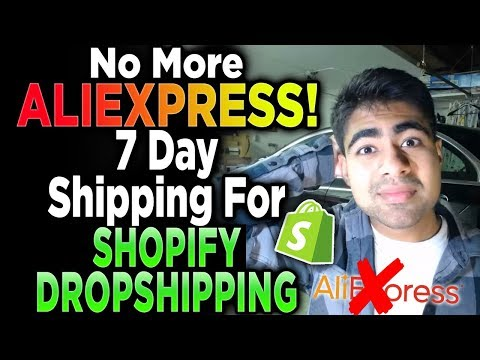 How To Dropship With 7-Day Shipping 2019 *SECRET Method Revealed* | Shopify Aliexpress Dropshipping thumbnail