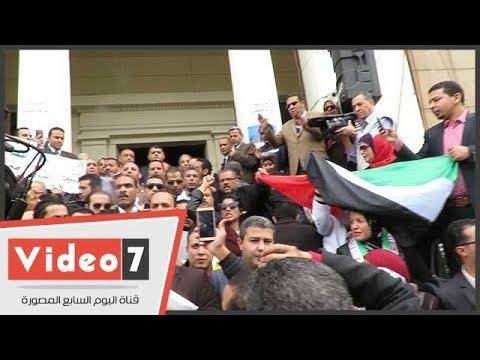 وقفة احتجاجية لـ«المحامين» اعتراضا على- تهويد القدس -  - 16:22-2017 / 12 / 10