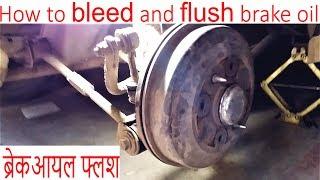 How to bleed & flush brake oil by crackover
