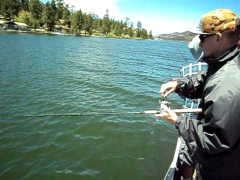 Big Bear Lake Ca Trout Fishing 6 5 11 Youtube