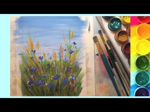 Рисуем красками - видео. Так можно научиться рисовать