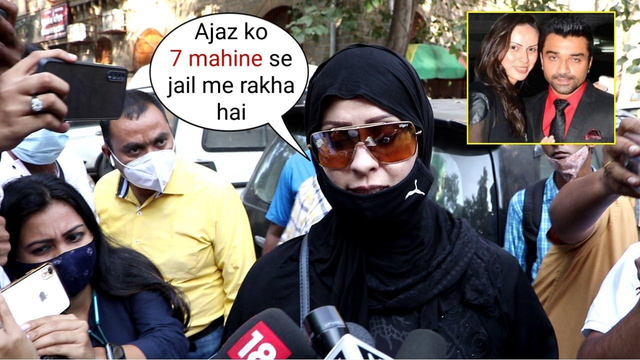 Plz Save My Husband!...Ajjaz Khan Wife Andrea Asha Khan At NCB Office..7 Months In Jail