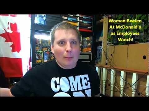 Woman Beaten At McDonald's as Employees Watch! - YouTube