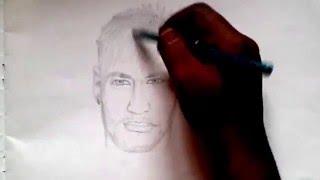Drawing Neymar - Brazil (Timelapse)