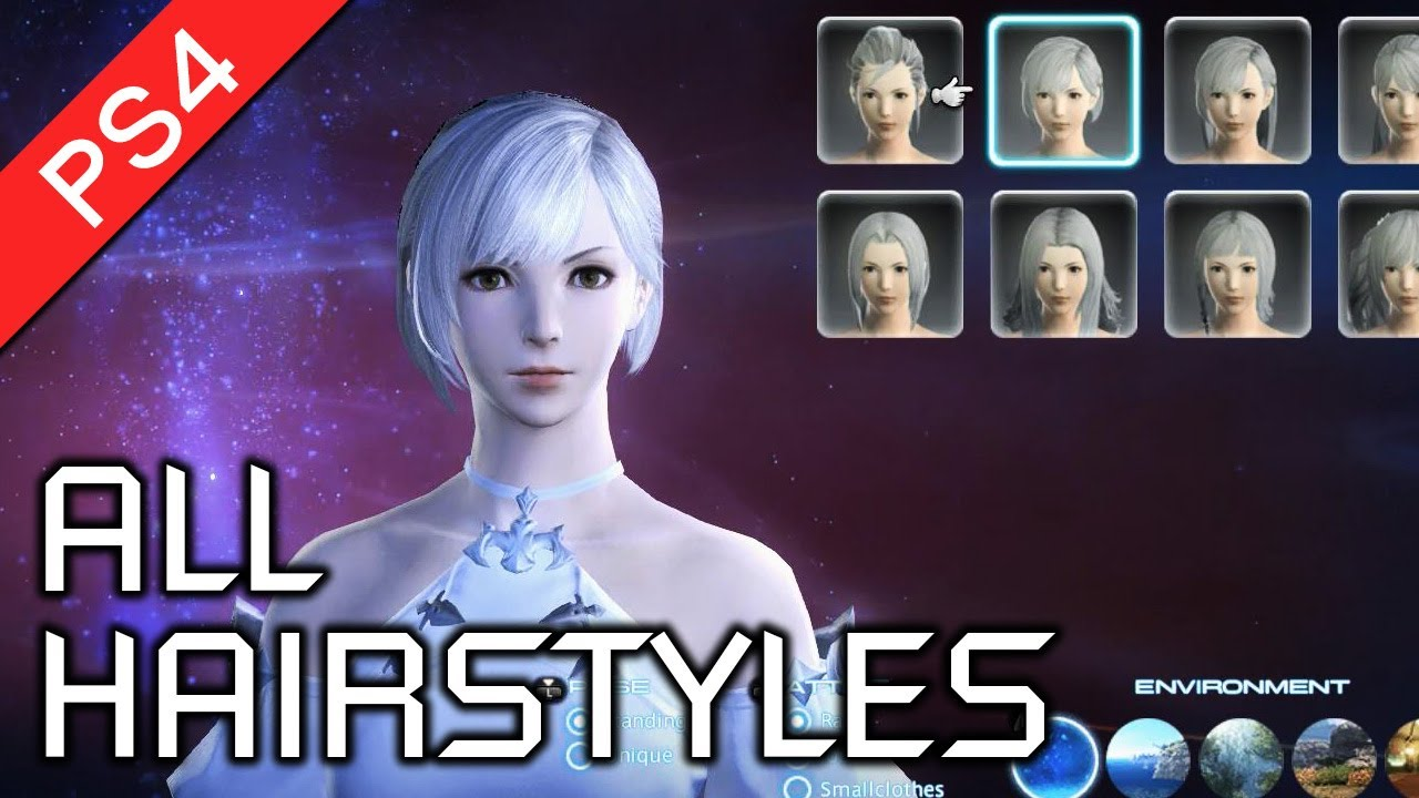 Final Fantasy XIV: A Realm Reborn (PS4) - All Female Hairstyles in  Character Creation [HD 1080p] by VGH Gamer