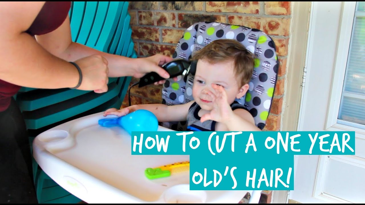 How To Cut A One Year Old Boys Hair Youtube