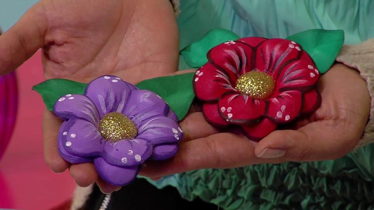 22979a981fc Flores de fomi con técnica de termoformado - YouTube