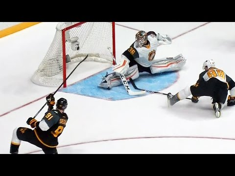 Gibson's dazzling split save leads to Hall goal