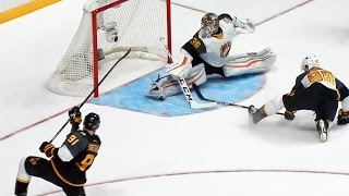 Gibsons dazzling split save leads to Hall goal