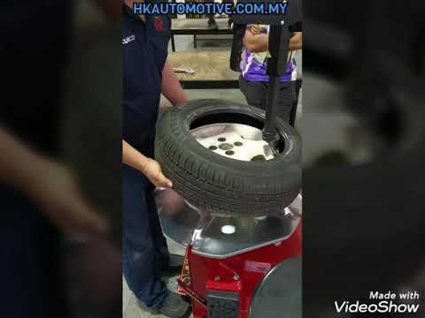 How to Remove & Install a tyre (Cara Buka & Pasang Tayar Kereta)