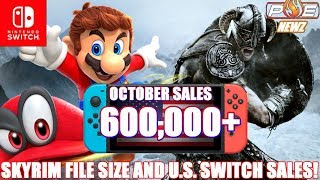 Nintendo Switch - 600K Switch's Sold in the US for October! Skyrim File Size!