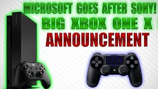 Microsoft Goes After Sony With Huge Xbox One X News! They Want To Beat The PS4!