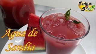 """Agua De Sandía """"paso A Paso"""" (toque Y SazÓn) Watermelon Drink"""