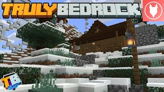 Truly Bedrock S2 : E23 - Winter Decorating + Redstone Brick Oven!