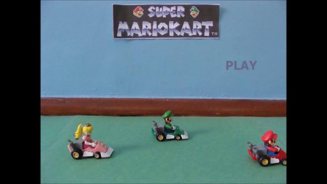 Super Mario Kart Intro - Super Mario Kart Stop Motion / Animation