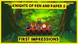 Knights of Pen and Paper 2 - Ep 1 - Gameplay PC - Pixelated Dungeons & Dragons RPG
