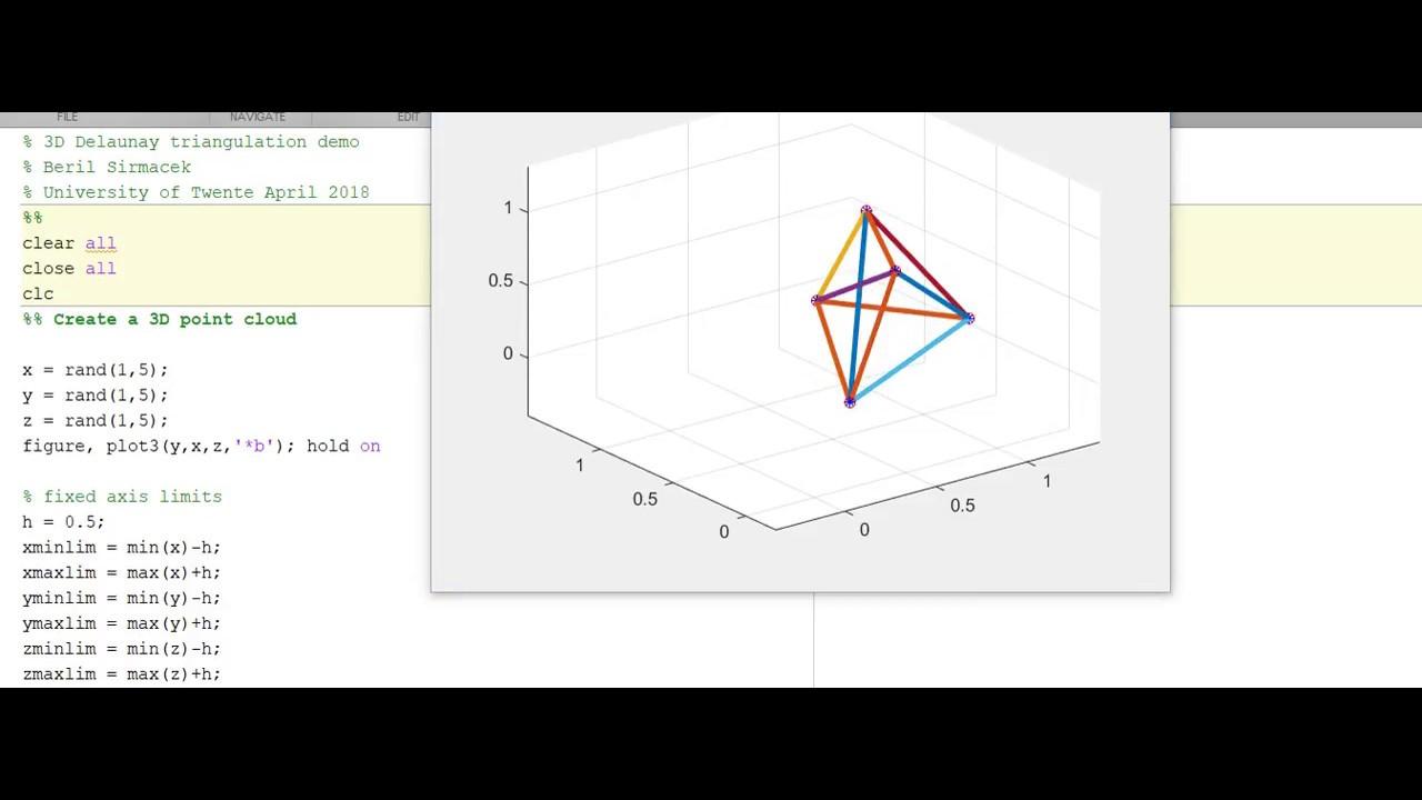 3D delaunay triangulation demo