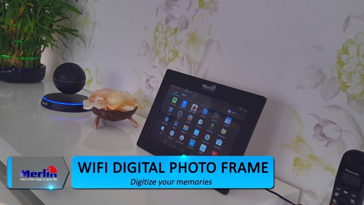 merlin wi fi digital photo frame - Wifi Digital Frame