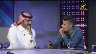 المنشد ماجد الرسلاني يتحدى عبدالله عيادة كشف رمز حماية جواله، والعيادة يفعلها على الهواء