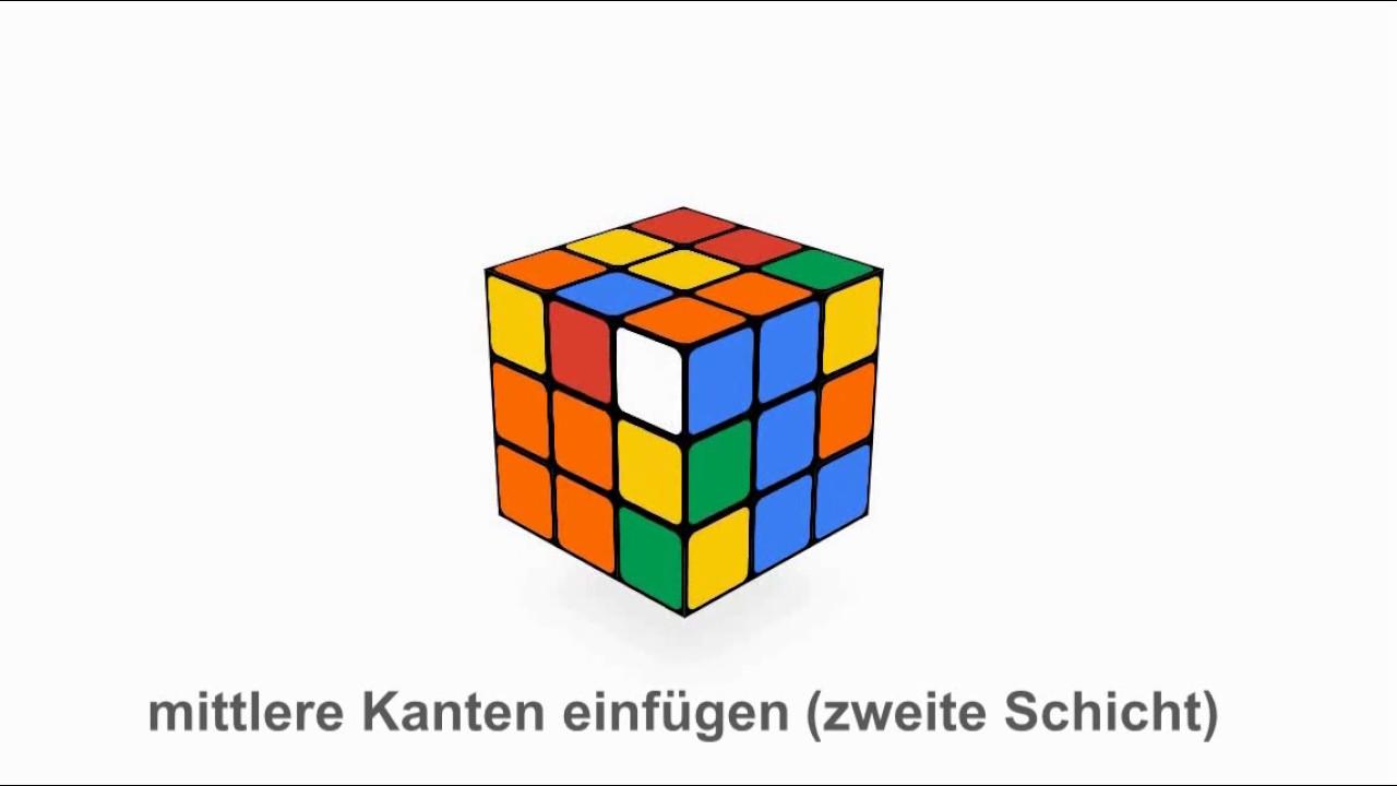 Zauberwürfel Lösung für die Anfänger: Zweite Ebene (zweite ...