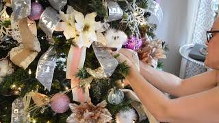 Adding Ribbon To Your Christmas Tree