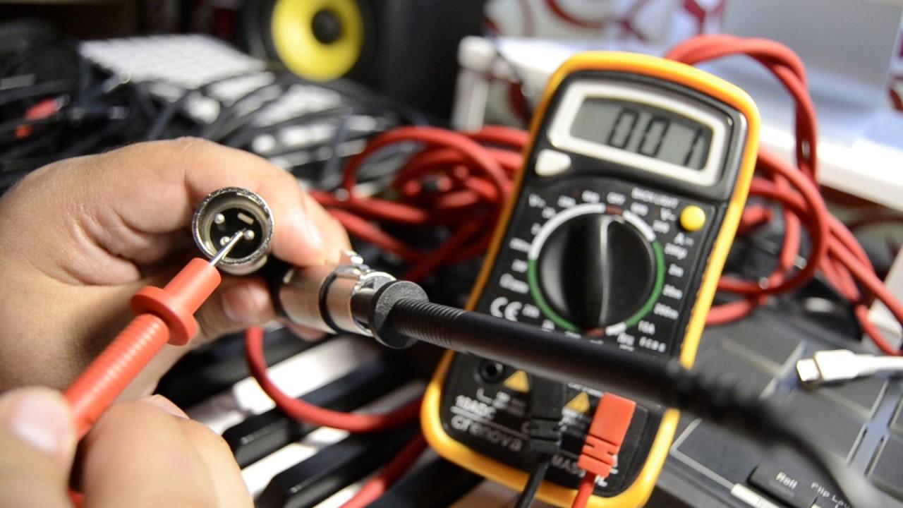 C 243 Mo Comprobar Continuidad Cable Xlr Jack Rca