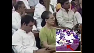 Watch: Rahul Gandhi busy on his phone during President's address in Parliament