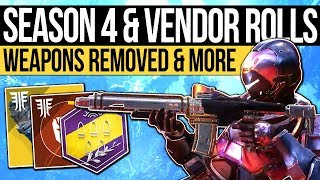 Destiny 2 News | VENDOR ROLLS & SEASON 4 INFO! Weapon Buffs, Mod Page, Weekly Vendors & August Patch