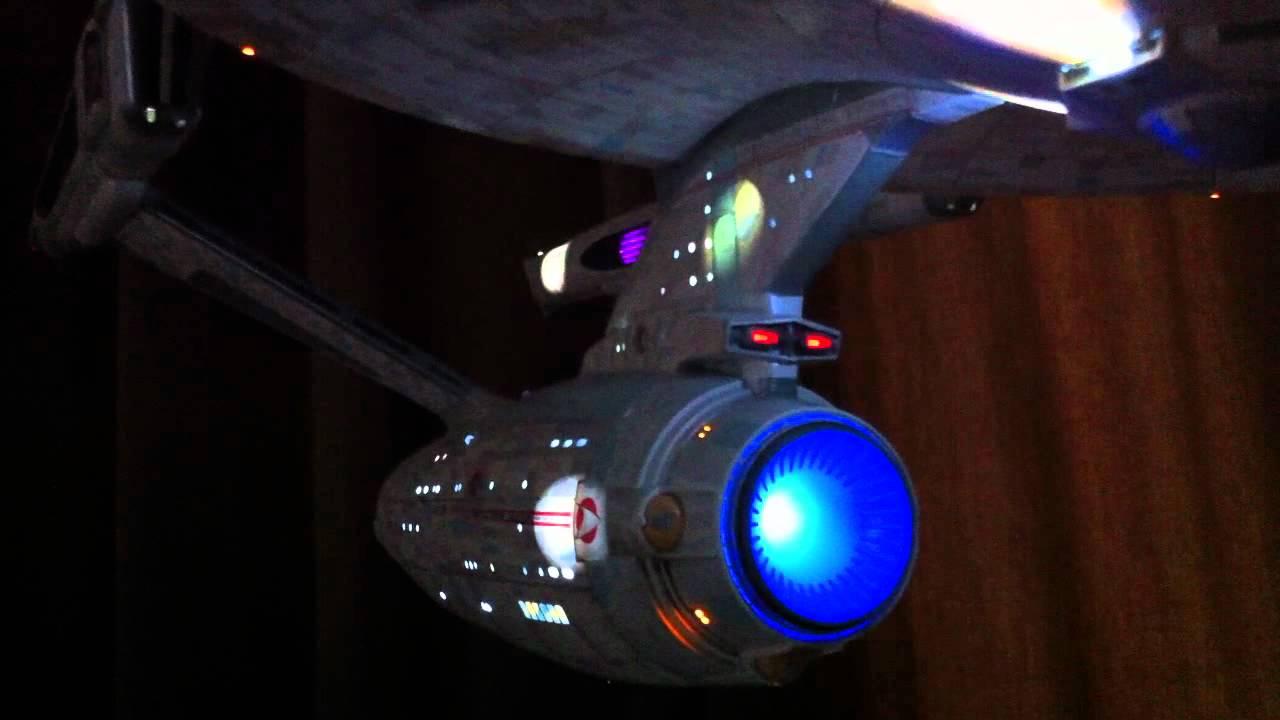 Starship Enterprise Model With Lights 3 Foot Long Youtube