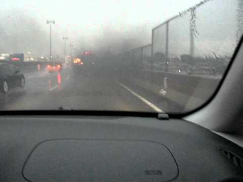 Montreal Severe Storm August 3 2010 Bus Smoking On Highway
