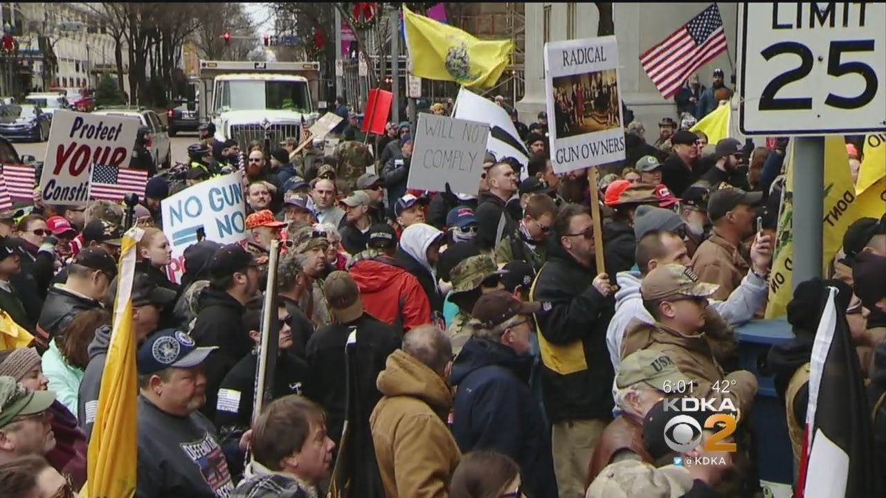 Gun Rights Advocates Protest At 'Open Carry Rally' At City-County Building