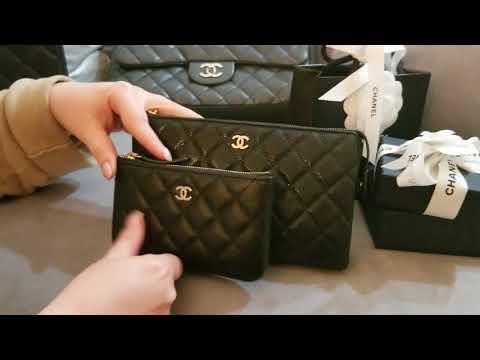 Chanel fabulous new SLG  Black caviar  O case & Clutch review!