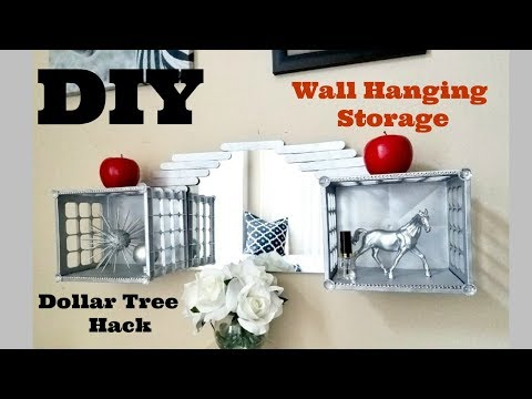 DIY Mirror Room Storage and Organization Using Dollar Store Items.