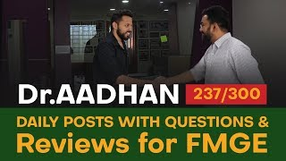 Idea behind the Daily posts with questions & reviews for FMGE / MCI preparation  | DMA, Chennai