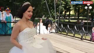 Показ свадебных платьев на благотворительной акции в Клинцах