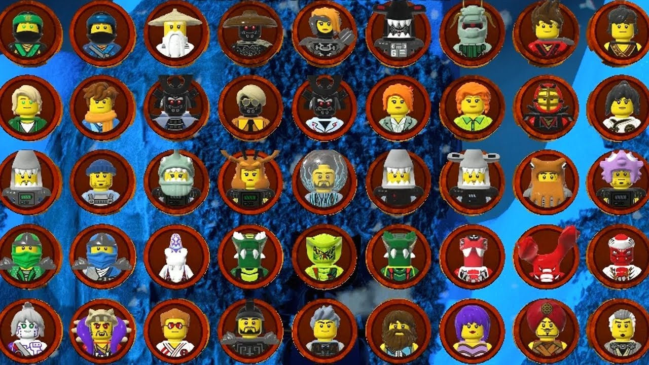 The LEGO Ninjago Movie Videogame - All Characters - YouTube
