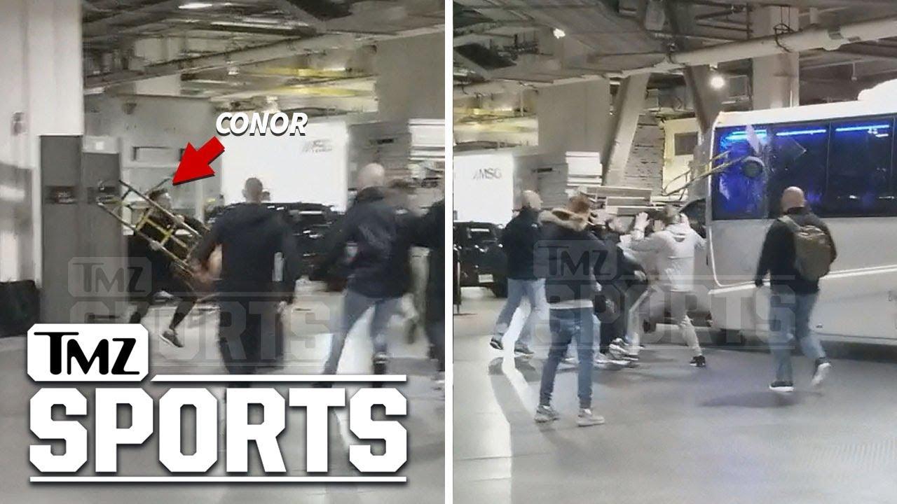 Conor McGregor attacked Habib Nurmagomedov's bus