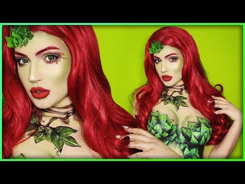 Poison Ivy Bodypaint Cosplay Makeup