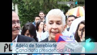 Candidata presidencial Adela de Torrebiarte emite sufragio