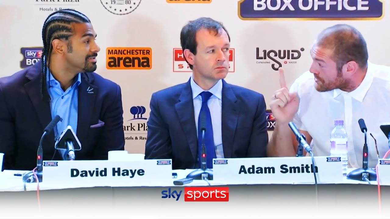 When Tyson Fury and David Haye clashed in hilarious press conference 🤣👊