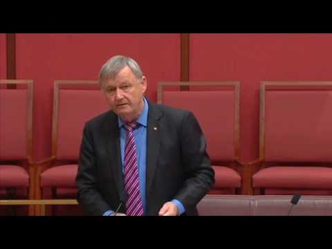 Senator Alex Gallacher speaking on the Nauru detention centre report