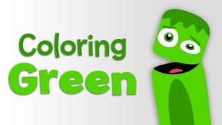 0449 Popular BabyFirstTV Color Crew Learn Colors Green 2