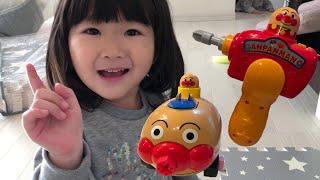 アンパンマン工事屋さんごっこ!赤ちゃんのためにプレイマットを準備~!Kids Play mat for Baby Anpanman Toy