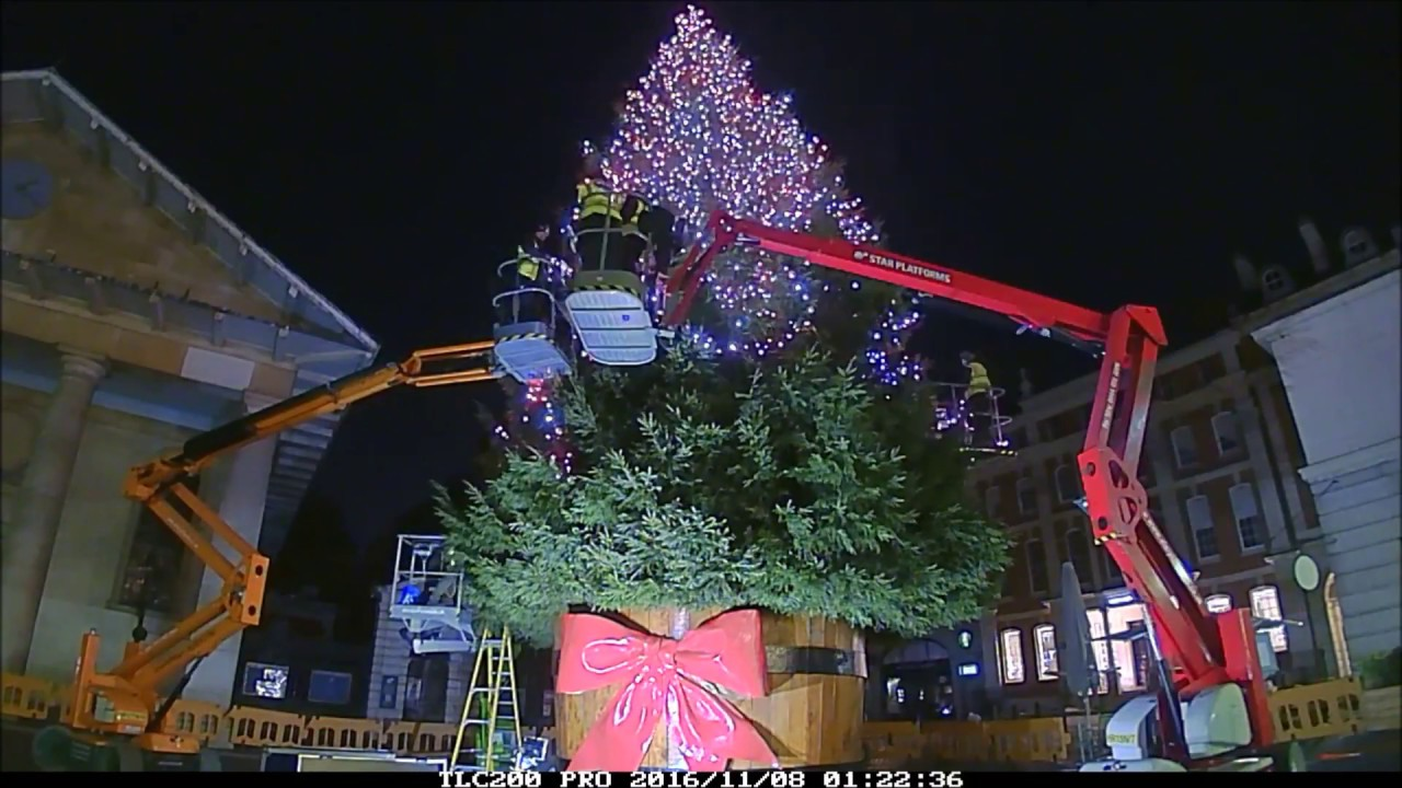Covent Garden Christmas Tree Time Lapse