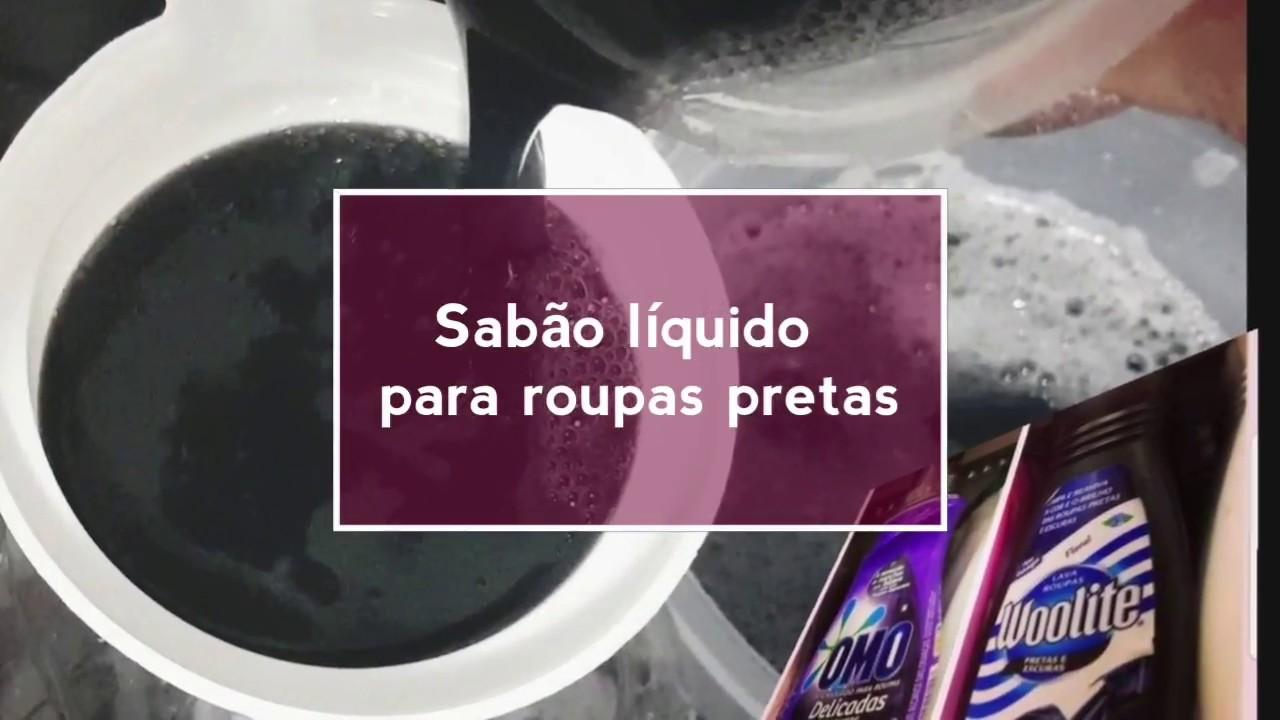 9a6ad5dca SABÃO LÍQUIDO PARA ROUPAS PRETAS - YouTube
