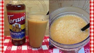 Dairy Free Maple Pumpkin Cooler ~ Torani Friday~ Noreen's Kitchen