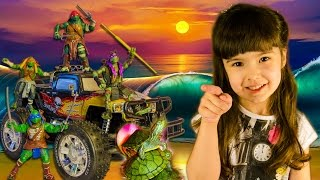 Черепашки Ниндзя – превращение из обычных черепах! БЛОКБАСТЕР мультяшный обзор игрушки открываем