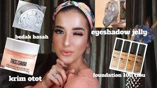 BELANJA BULANAN FIRST IMPRESSION ! L.A girl , becca, treechada, etc