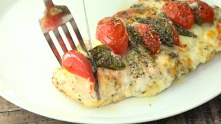 Chicken Stuffed with Mozzarella, Tomato and Basil