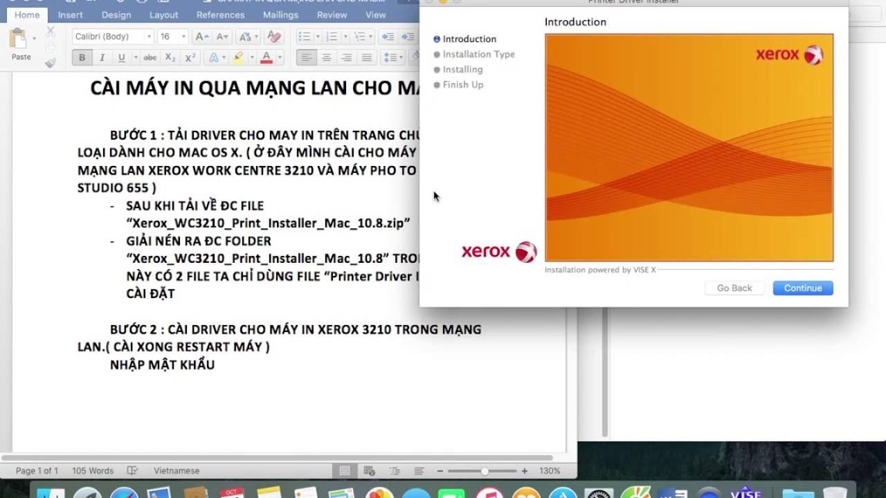 Hướng dẫn cài đặt máy in qua mạng lan cho Mac OS X phần 1